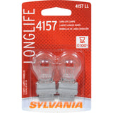 2-PK SYLVANIA 4157 Long Life Automotive Light Bulb