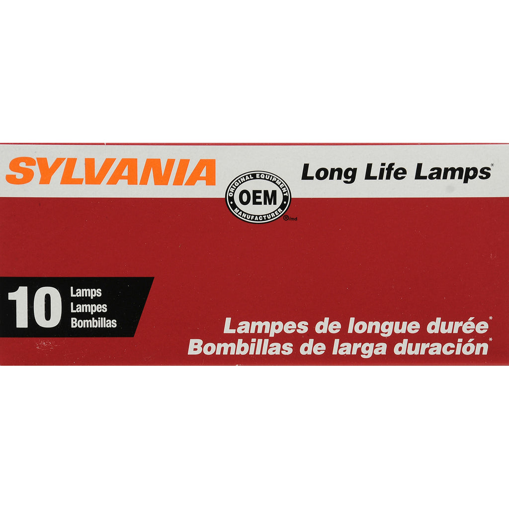 10-PK SYLVANIA 3757A Long Life Automotive Light Bulb