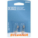 2-PK SYLVANIA DE3022 Basic Automotive Light Bulb