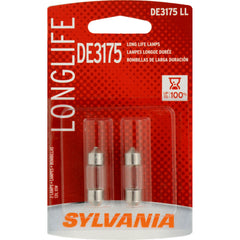 2-PK SYLVANIA DE3175 Long Life Automotive Light Bulb