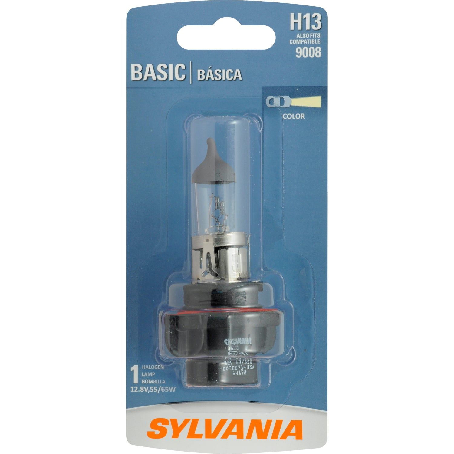 SYLVANIA H13 Basic Halogen Headlight Automotive Bulb