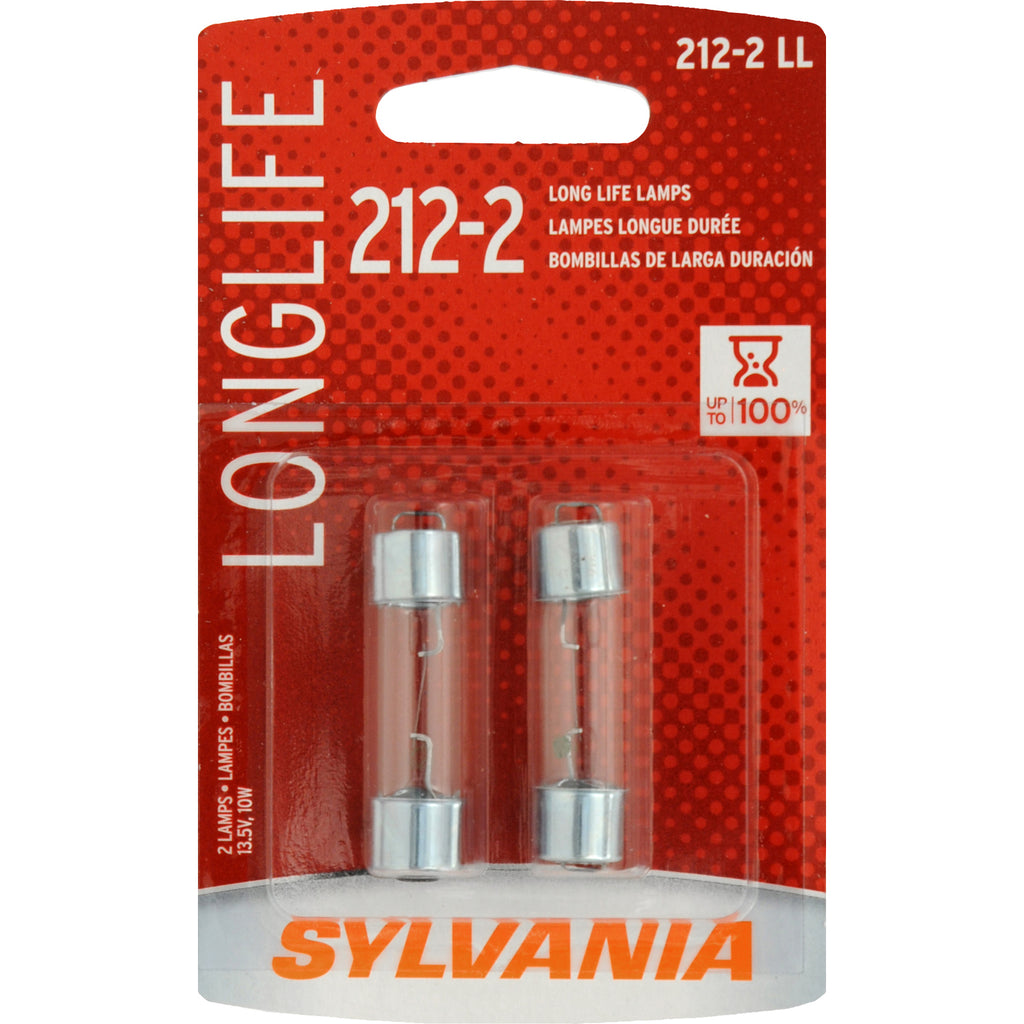 2-PK SYLVANIA 212-2 Long Life Automotive Light Bulb