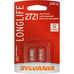 2-PK SYLVANIA 2721 Long Life Automotive Light Bulb