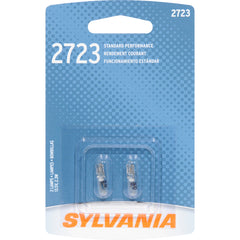 2-PK SYLVANIA 2723 W2.3W Standard Automotive Light Bulb