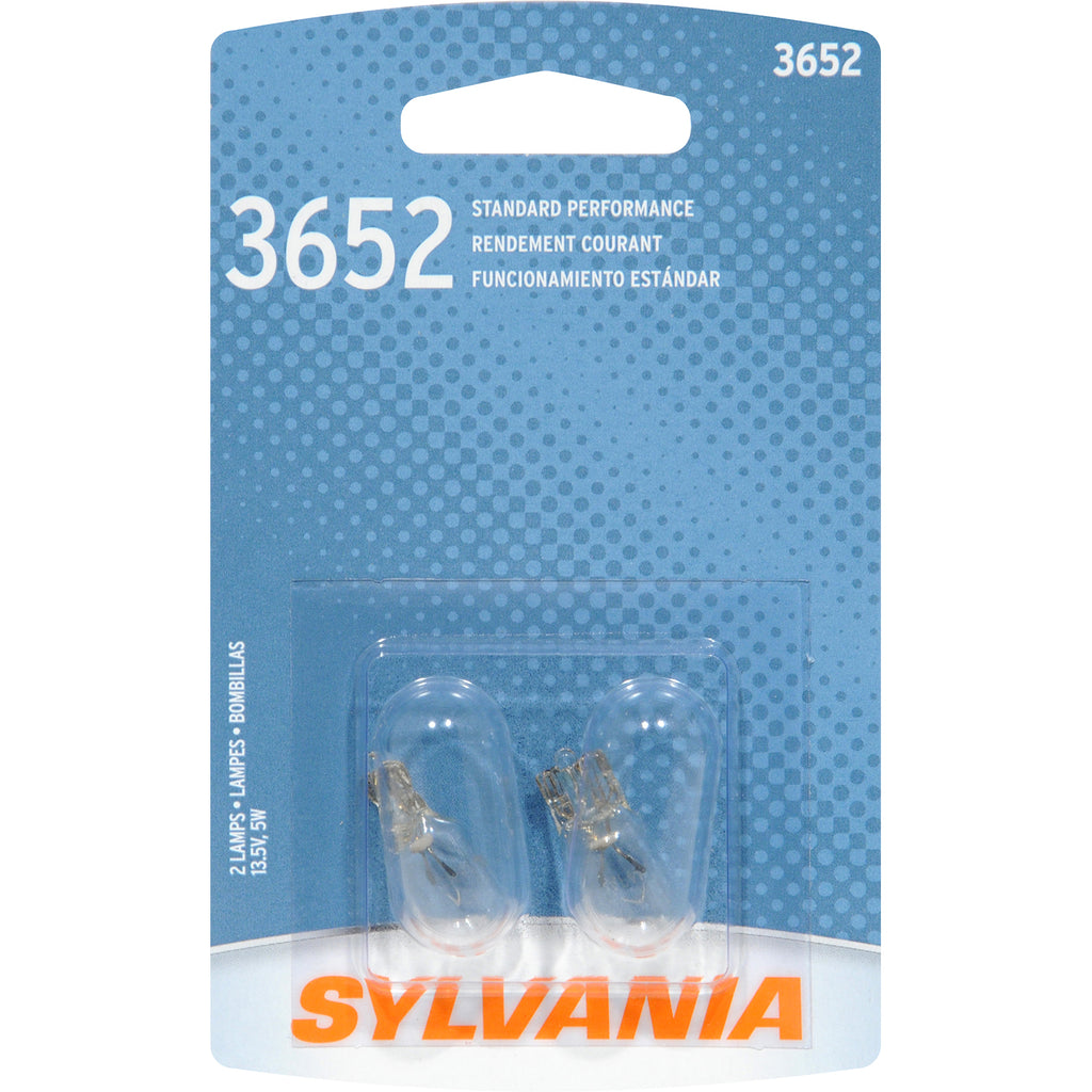 2-PK SYLVANIA 3652 Basic Automotive Light Bulb