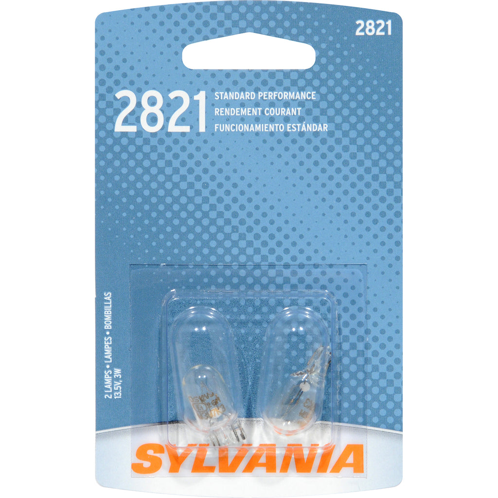 2-PK SYLVANIA 2821 Basic Automotive Light Bulb