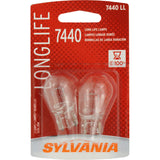 2-PK SYLVANIA 7440 Long Life Automotive Light Bulb