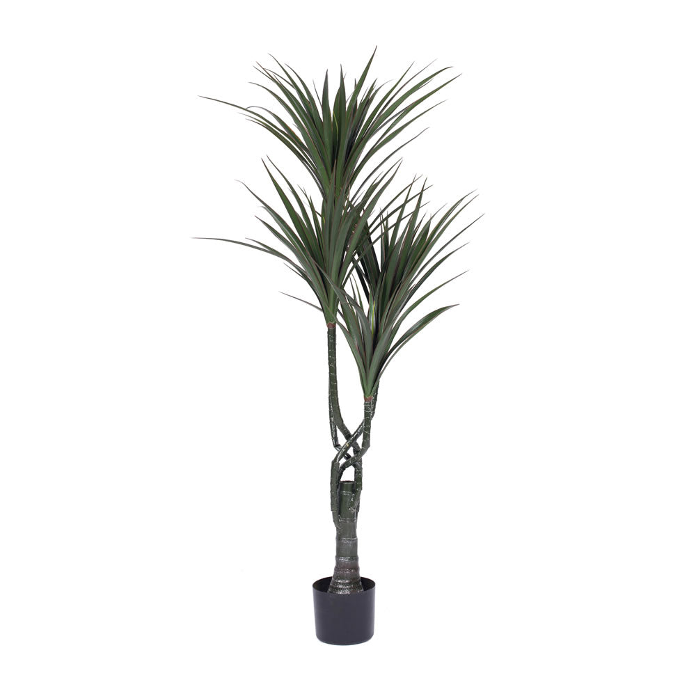 Vickerman 48'' UV Resistant Artificial Giant Yucca Tree 4 Branch Pot 124 Leaves