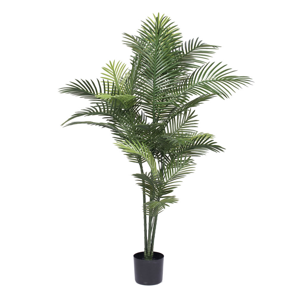 "Vickerman 60"" UV Resistant Artificial Robellini Palm Tree 4 Branch Pot 34 Leaves"