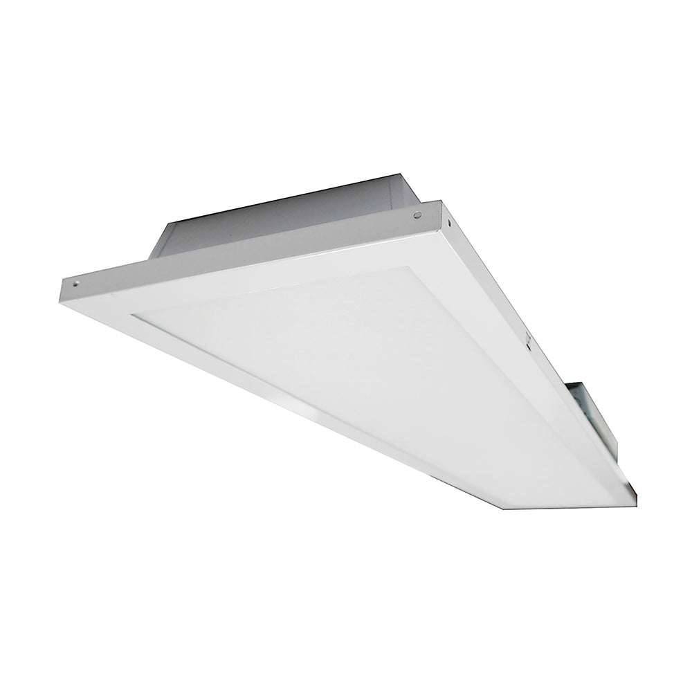 NICOR 1x4 ft. LED Troffer with Textured Diffuser in 5000K