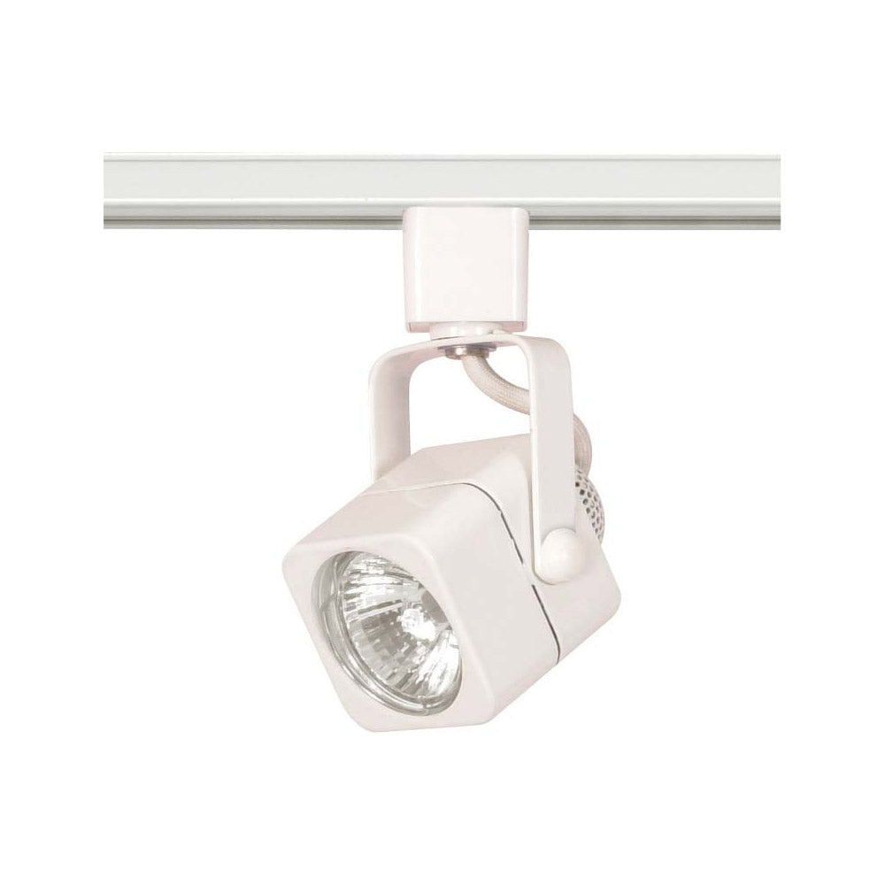 Nuvo TH312 White 1 Light - MR16 - 120V Track Head - Square