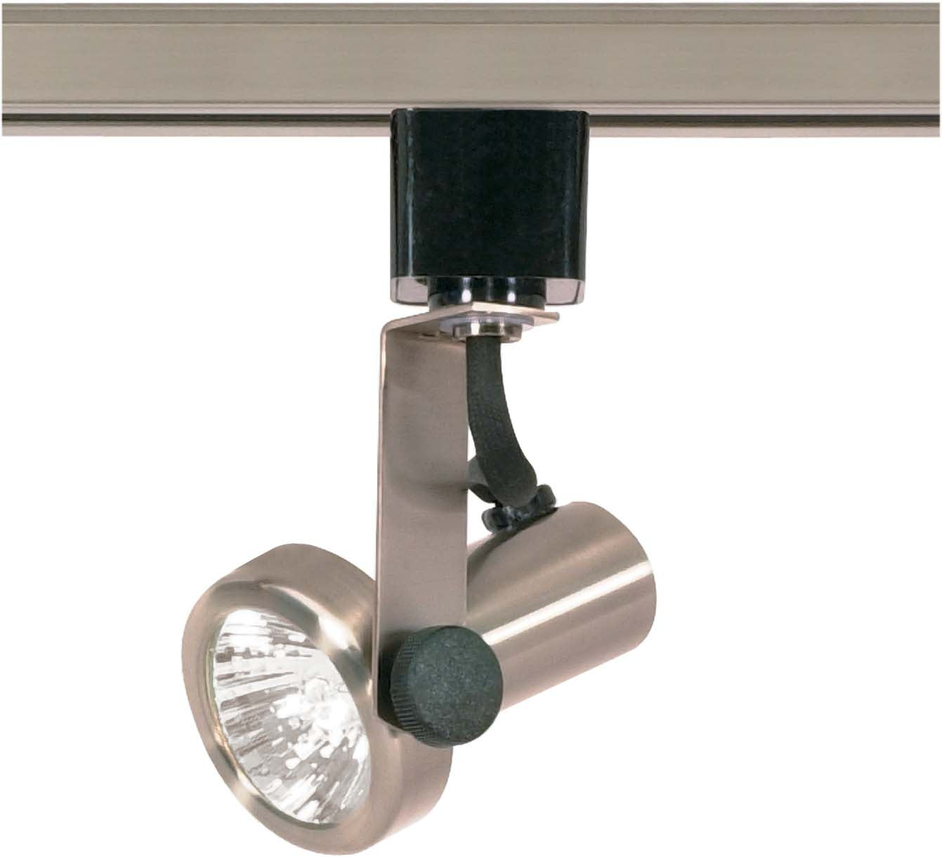 Nuvo TH323 Brushed Nickel 1 Light - MR16 - 120V Track Head - Gimbal Ring