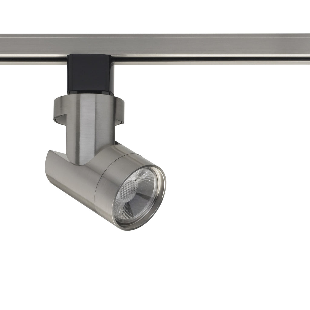 12W 1 Light LED Track Head Barrel Brushed Nickel 24 Deg. Beam