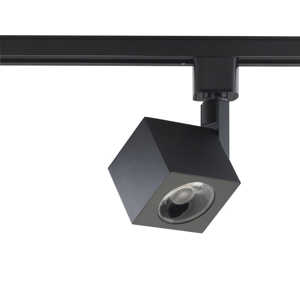 12W 1 Light LED Track Head Square Black 36 Deg. Beam