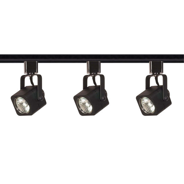 Nuvo TK346 Black 3 Light - MR16 - Square Track Kit - Line Voltage