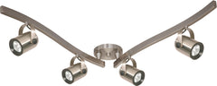 Track Kit Mounted Track Lighting Light Fixture in Brushed Nickel Finish