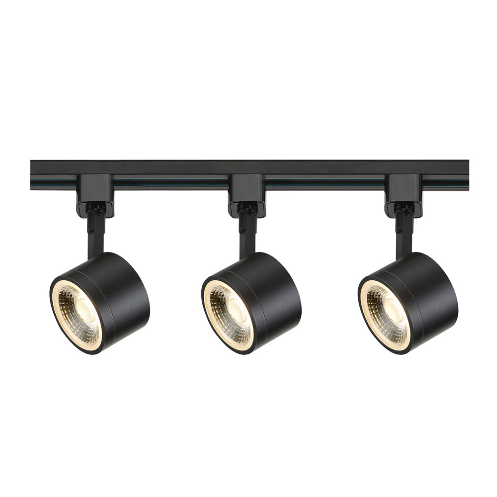 Nuvo TK404 Round Black 3 Light LED Track Kit - 36 watts - Soft White