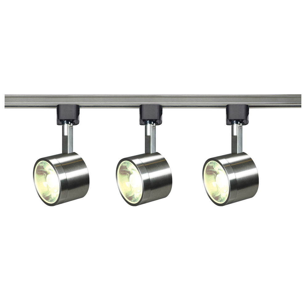 Nuvo TK407 Round Brushed Nickel 3 Light LED Track Kit - 36 watts - Soft White