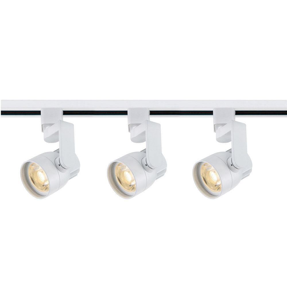 Nuvo TK423 Angle Arm White 3 Light LED Track Kit - 36watts - Soft White