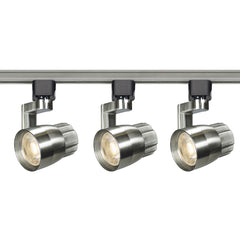 Nuvo TK427 Angle Arm Brushed Nickel 3 Light LED Track Kit - 36w - Soft White