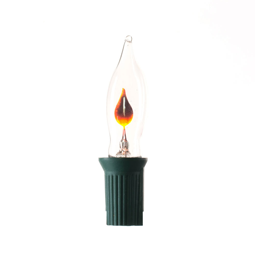 1PK - 12 in x 24 in x 12 in Incandescent String 10Lt. Clear Flame C7 Lights Green Wire