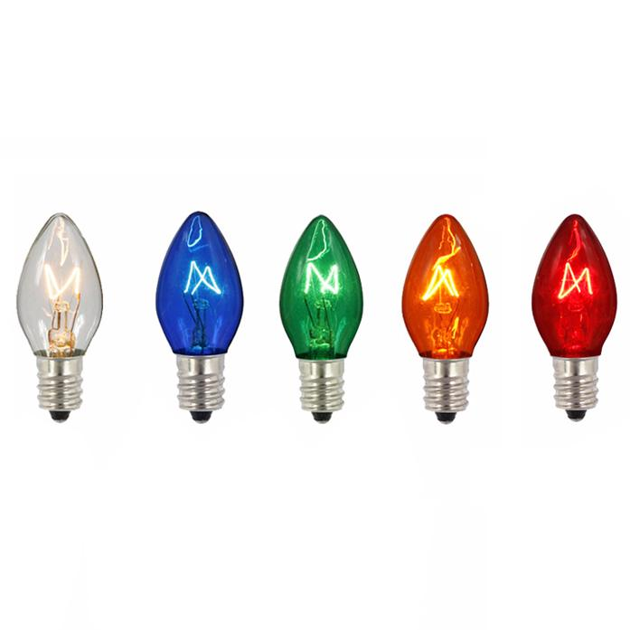 Vickerman C7 Transparent Multi Twinkle 120V 5W Bulb
