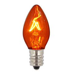 100PK - Vickerman C7 Transparent Amber 130V 5W Bulbs