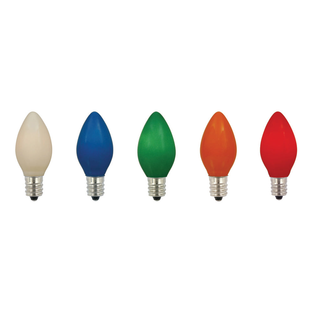 100PK - Vickerman C7 Ceramic Multi 130V 5W Bulbs