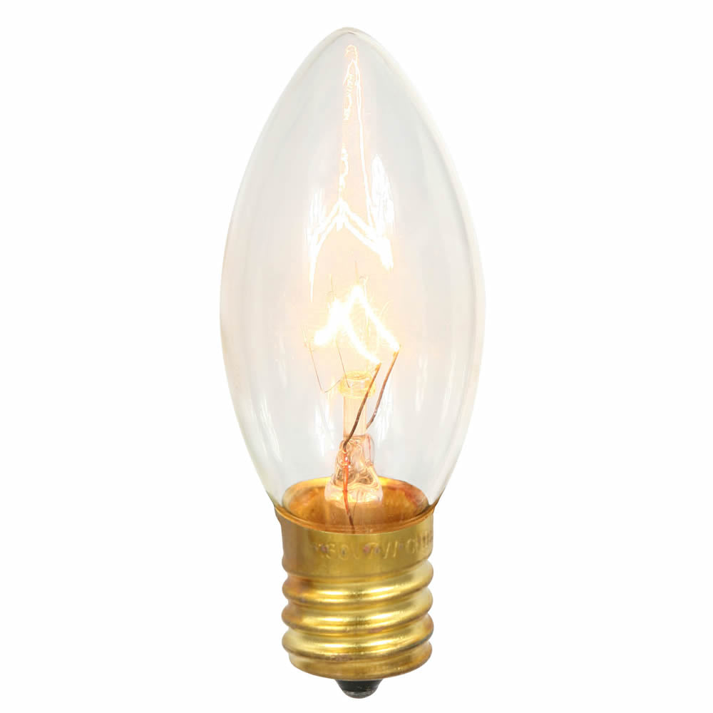 100PK - Vickerman C9 Clear 7W 130V Bulb