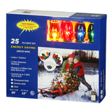 25 Transparent Multi Color C9 Lights 25Ft. Christmas Set_1