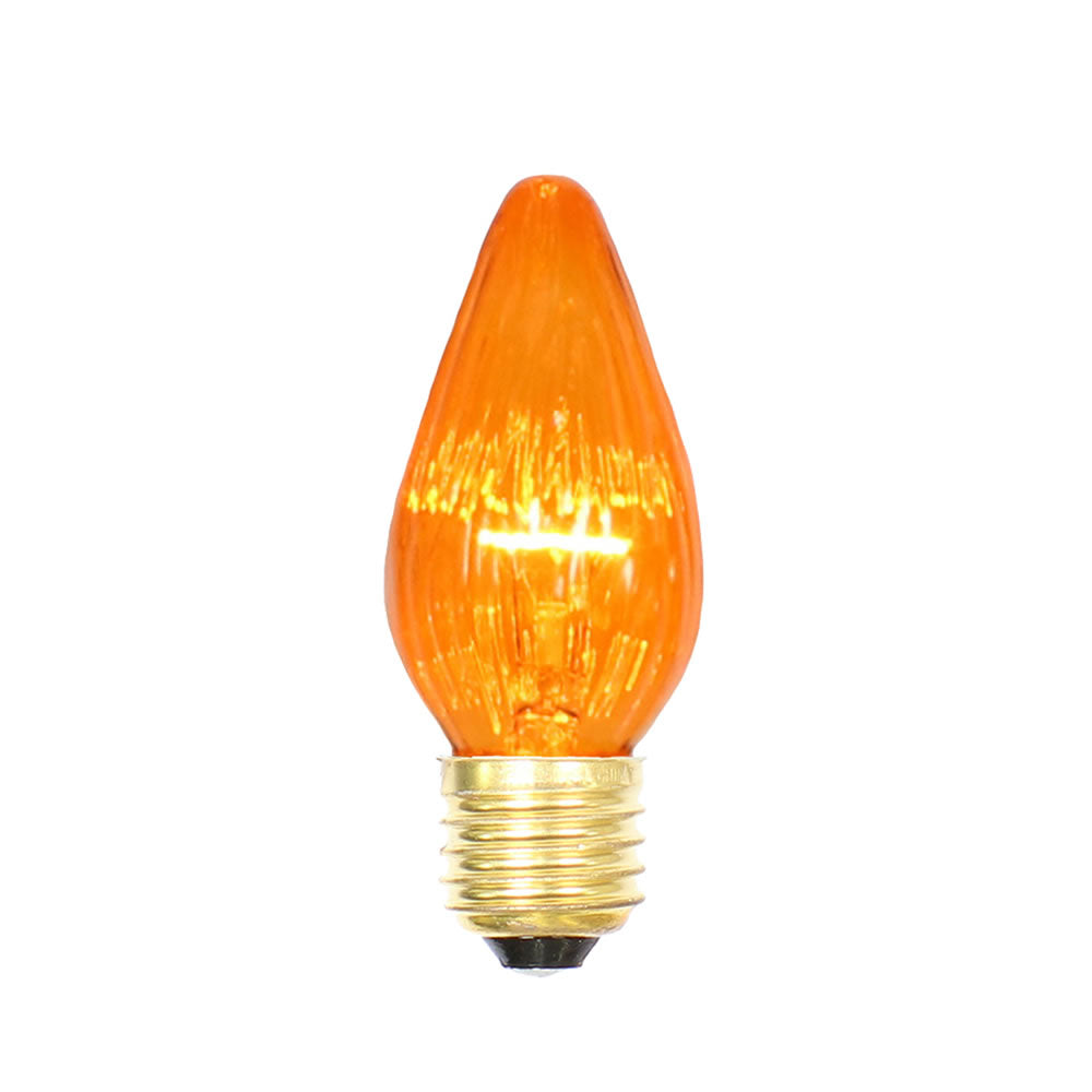 25PK - Vickerman Amber Flame Med Base 130V 25 Watt Bulbs