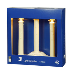 "4PK - Vickerman 3Lt Ivory Candolier C7 Clear 36"" Lead"