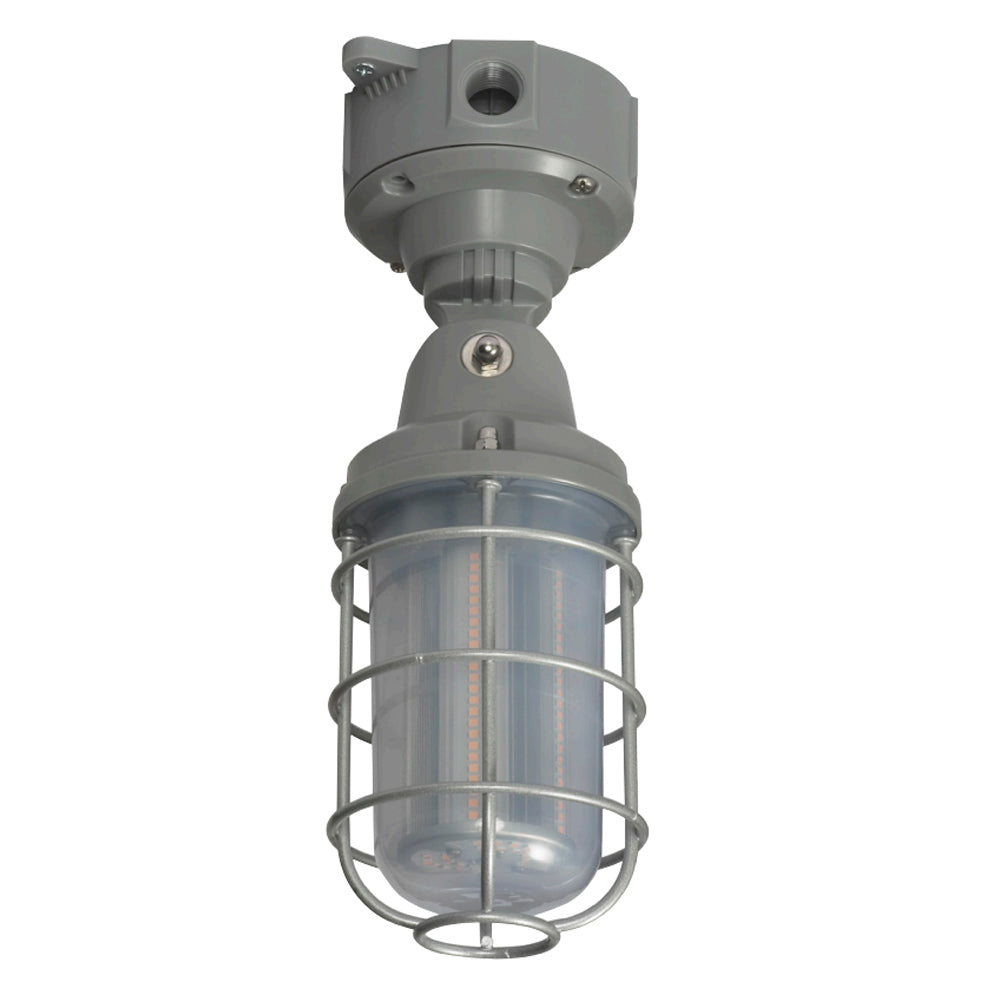 Nuvo Lighting 20w LED Adjustable Vapor Tight in Gray Finish 5000k
