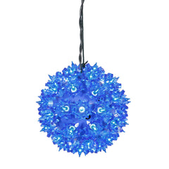 100 Lights Blue Lights 7.5in. Twinkle Star Sphere Christmas Set
