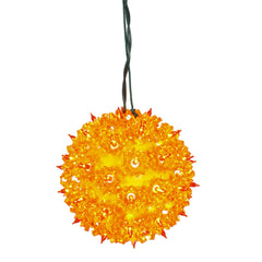50 Lights Orange Lights 6in. Twinkle Star Sphere Christmas Set