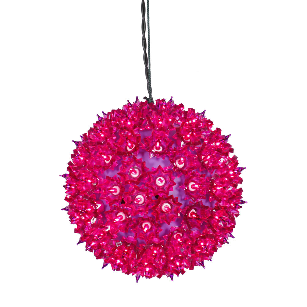 100 Lights Purple Lights 7.5in. Twinkle Star Sphere Christmas Set