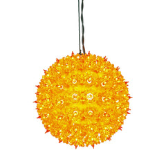 100 Lights Orange Lights 7.5in. Twinkle Star Sphere Christmas Set