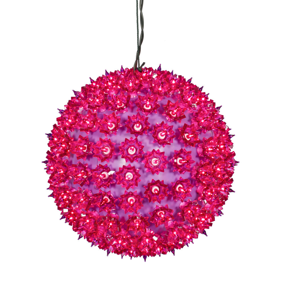 150 Lights Purple 10in. Twinkle Star Sphere Christmas Set