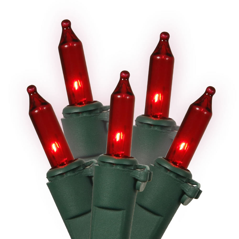 2 Pack - 100 Red Icicle Lights Green Wire 9Ft. Christmas Set