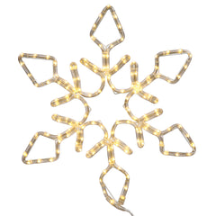36in. 208 LED Lights Pure White Diamond Snowflake Christmas Set