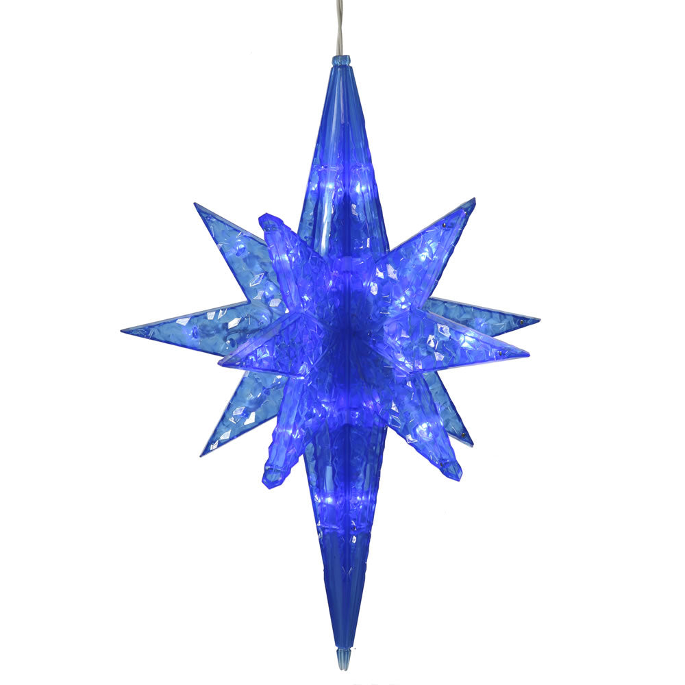 50 Blue Bethlehem Star Led Lights 20in. Christmas Set