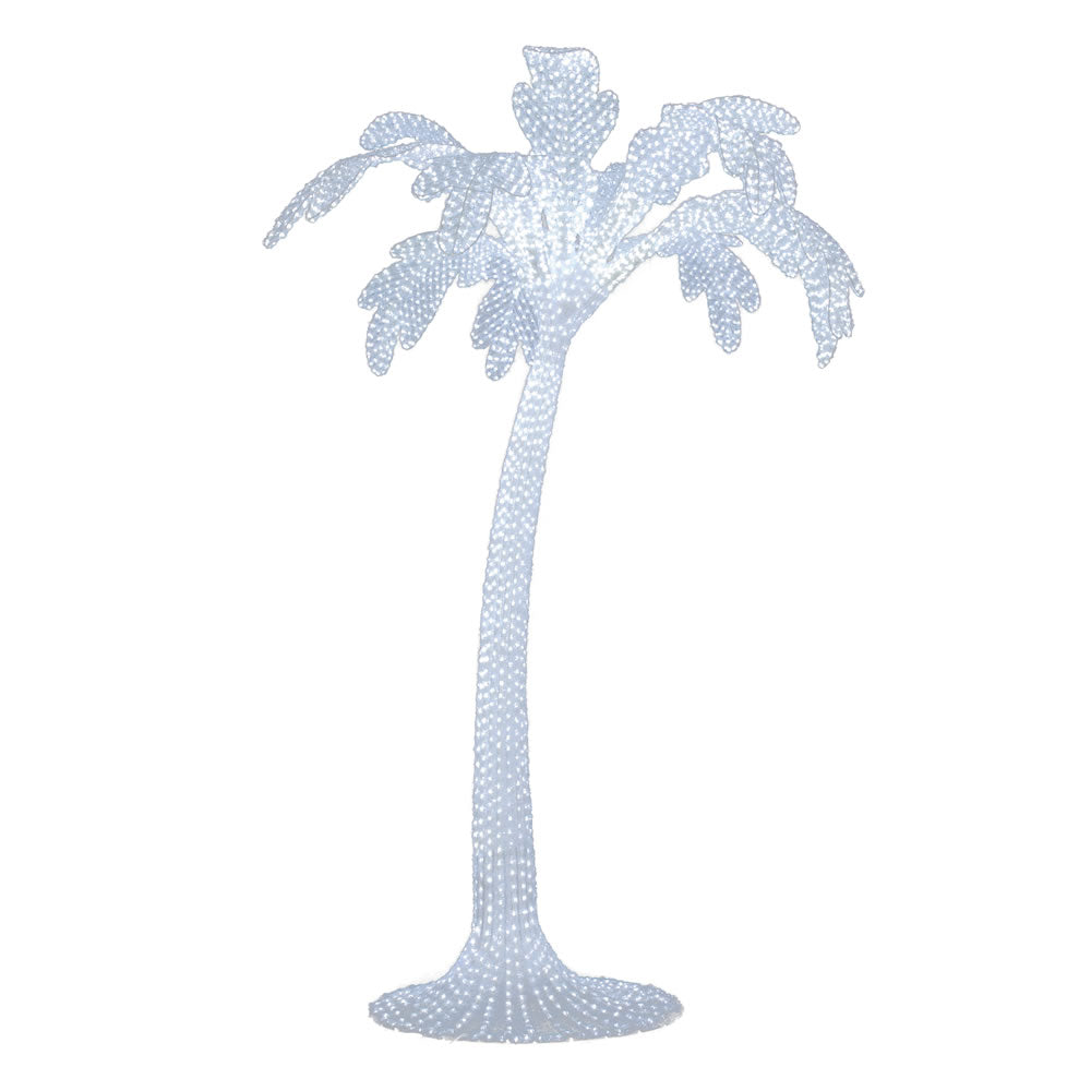 Vickerman 10 ft. x 78 in. Outdoor White Palm 5500 LED