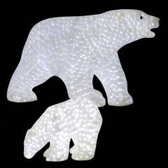 Vickerman 27 in. x 49 in. x 22 in. Male Polar Bear 1900LED