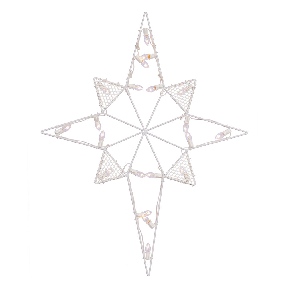 Vickerman 39 in. x 30 in. LED C7 Wire Silh Star-Bethlehe