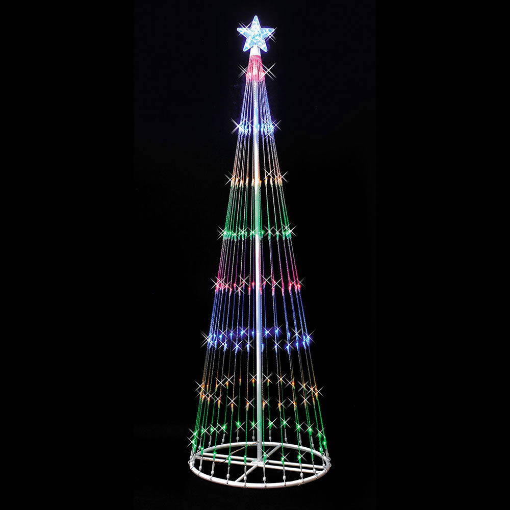 "6' x 28"" LED 200 Multi Light Show Tree"