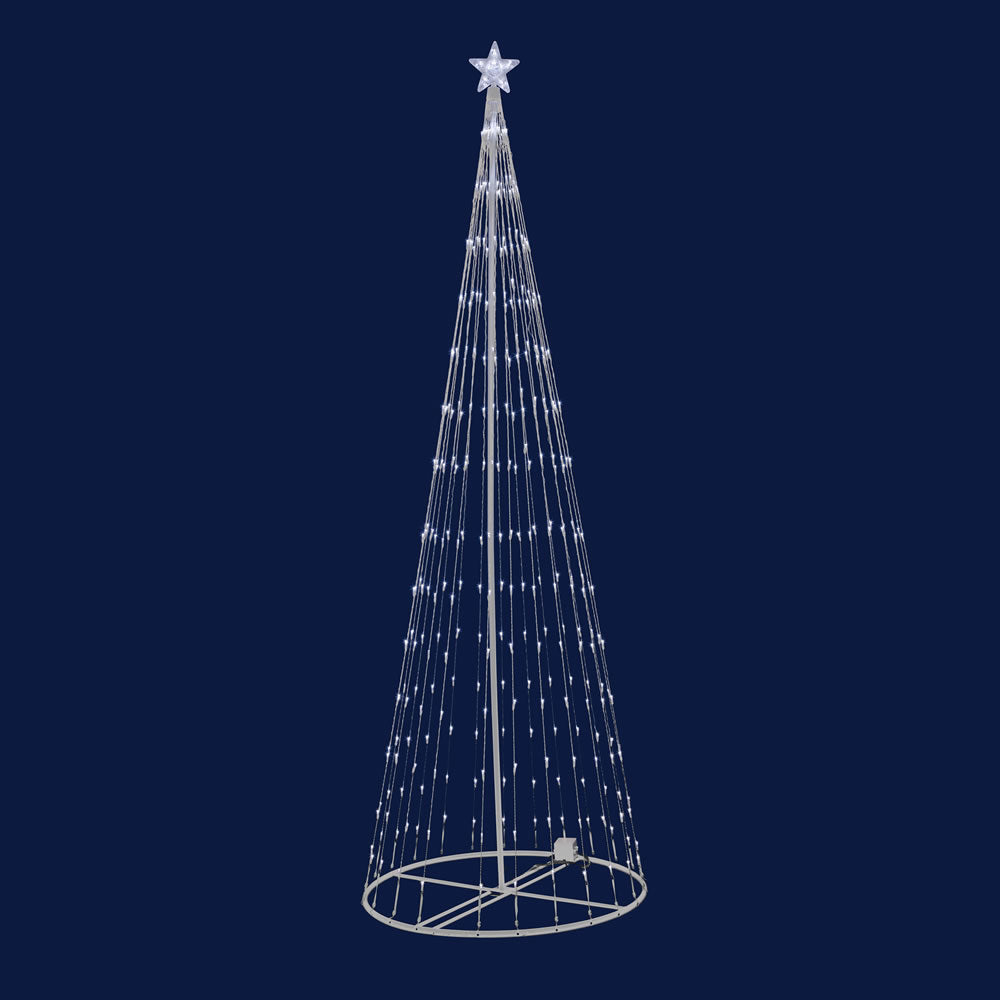 "6' x 28"" LED 200 Warm White Light Show Tree"