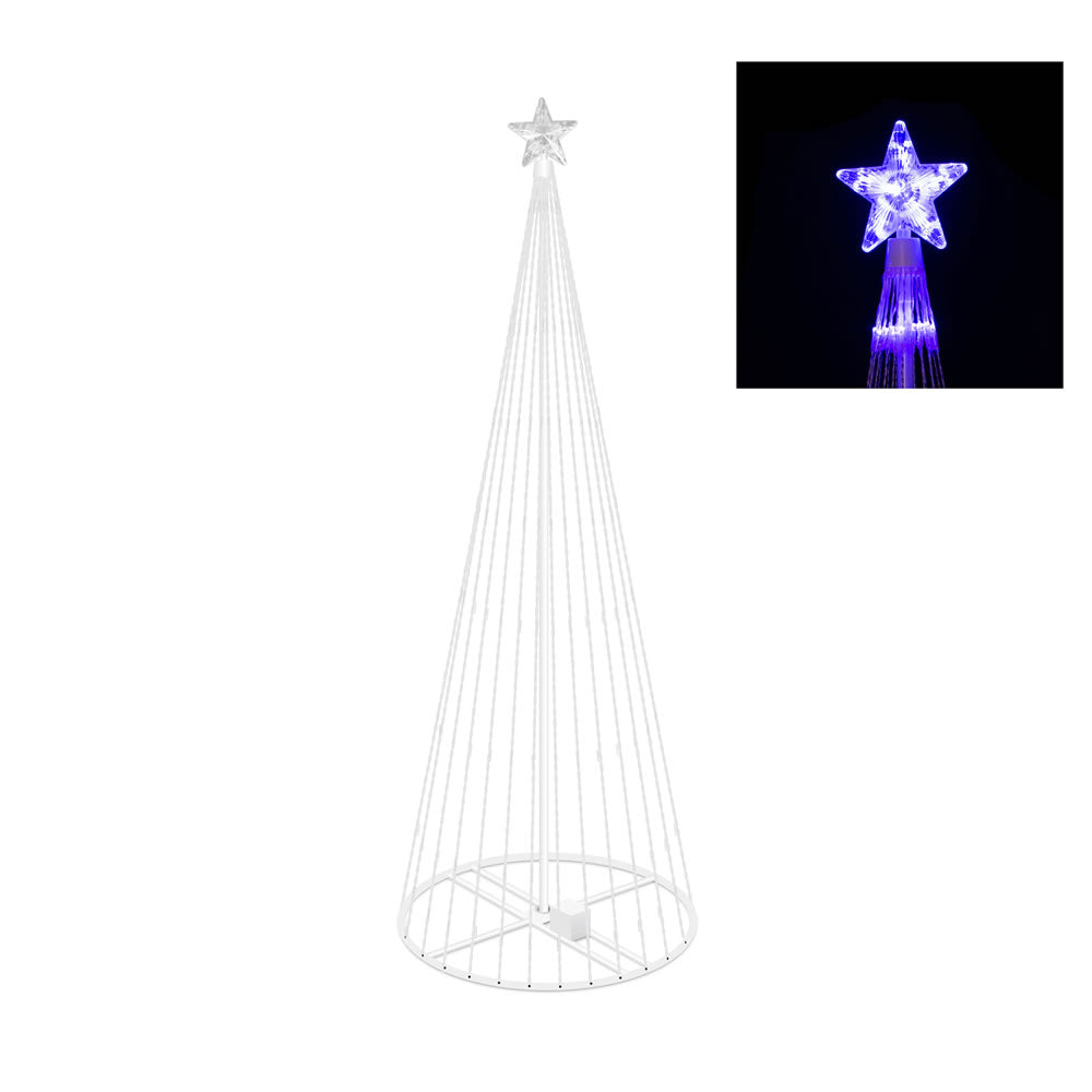 Vickerman 4 ft. x 24 in. LED 152 Purple Light Show Tree