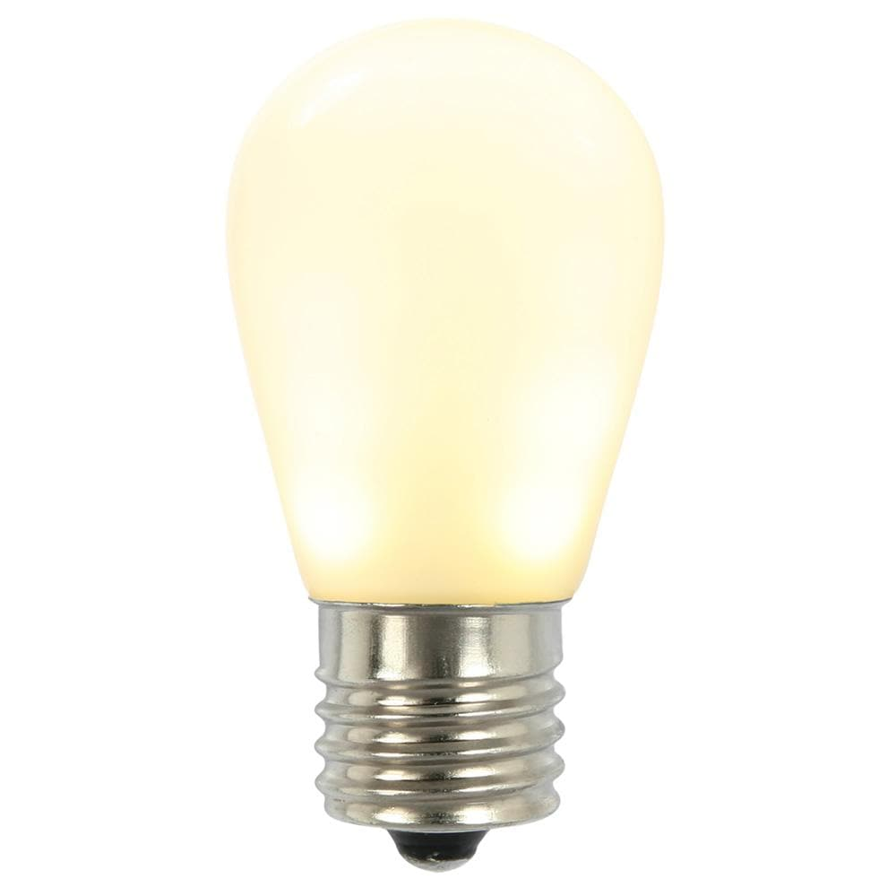 S14 LED White Ceramic Bulb E26 Nk Base
