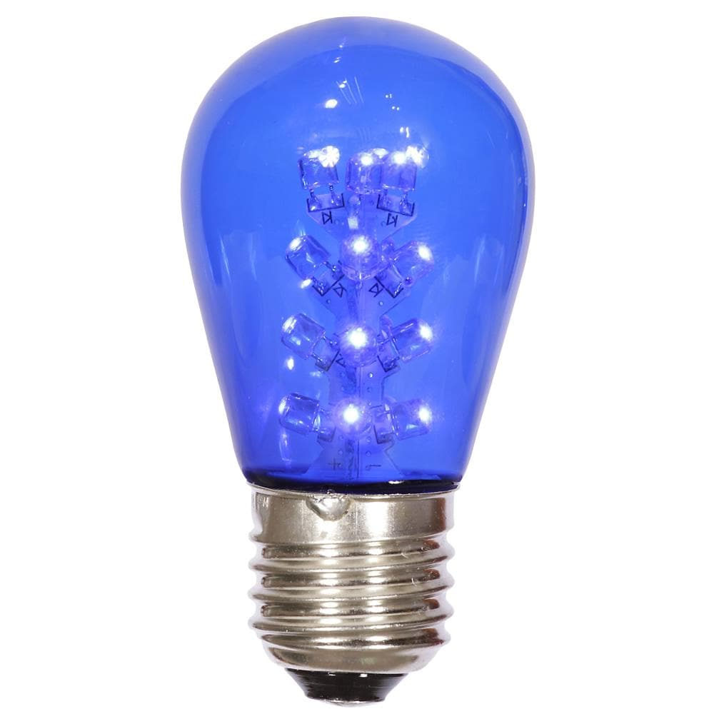 S14 LED Blue Transp Bulb E26 Nk Base