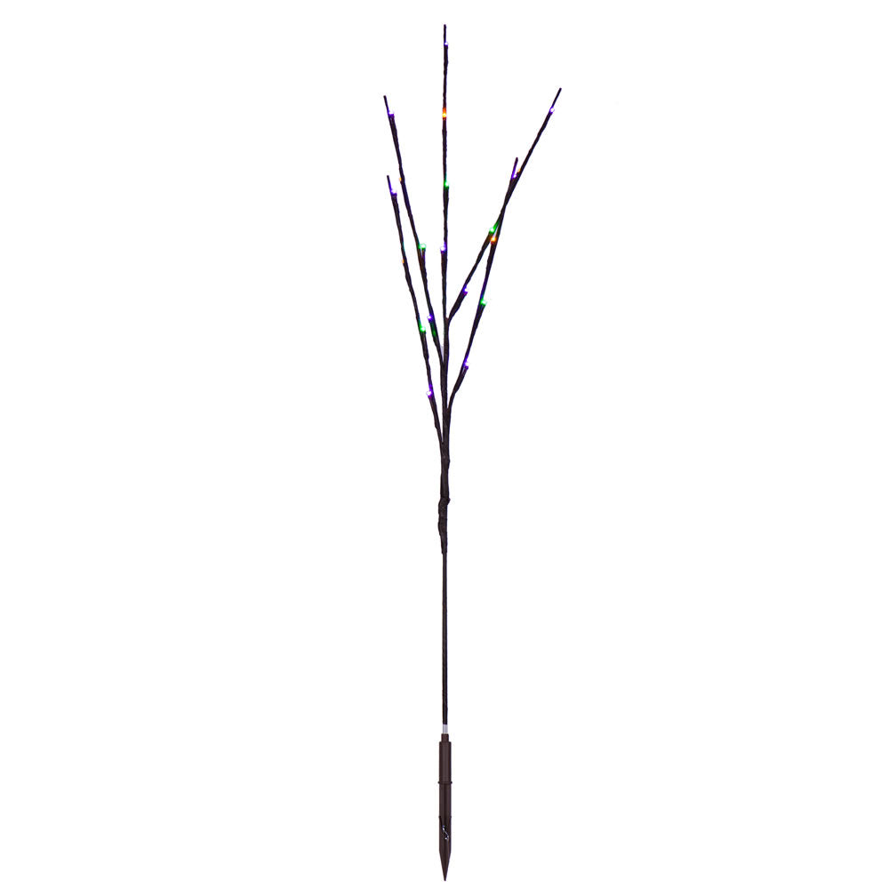 "Vickerman 60Lt 3Pc 36"" LED Mardi Gras Purple-Gold-Green WA Brown Wire Twig Lt"